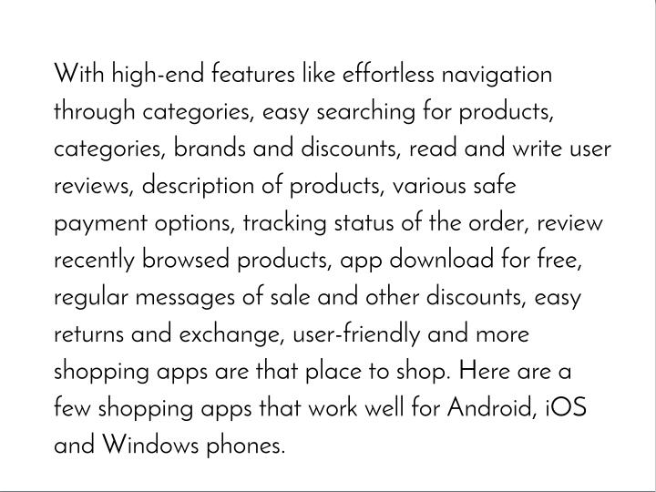 With high-end features like effortless navigation