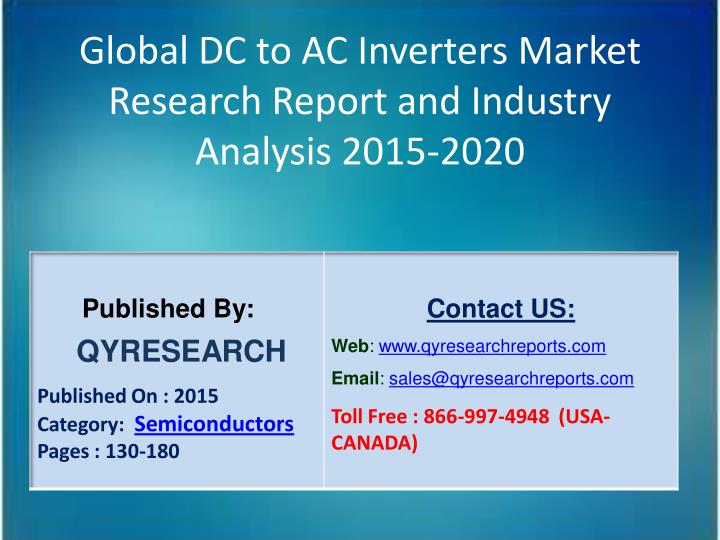Global DC to AC Inverters Market