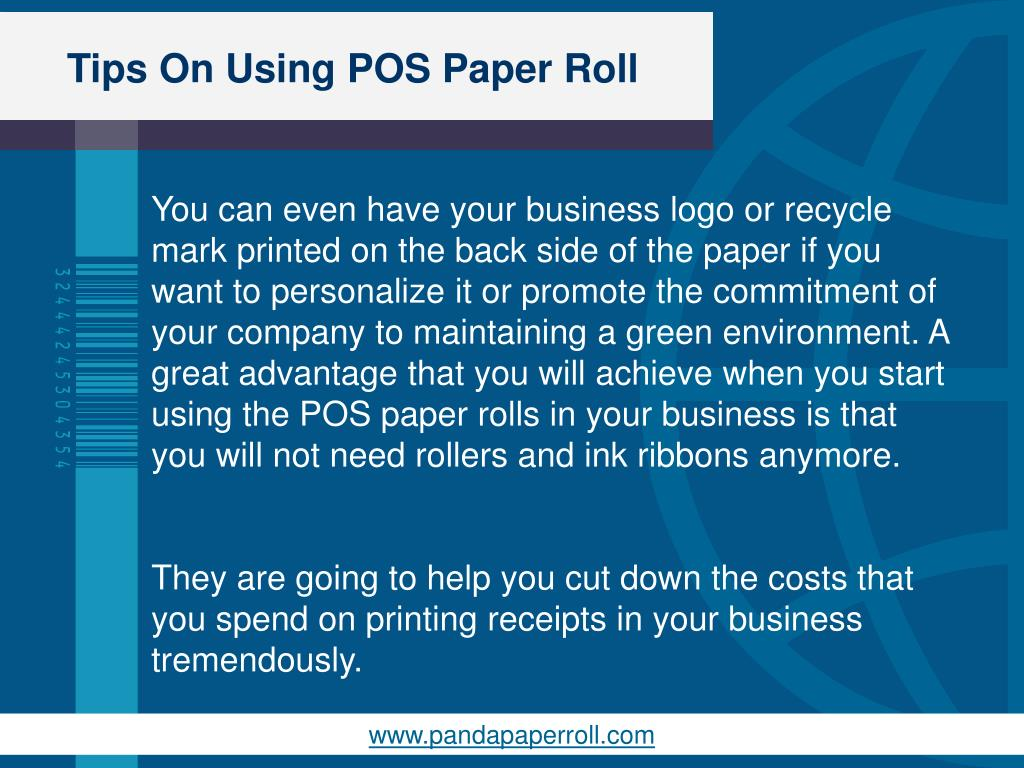 PPT - Tips On Using POS Paper Roll PowerPoint Presentation - ID:7263129