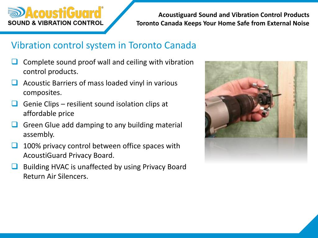 PPT - AcoustiGuard Sound and Vibration Control Products