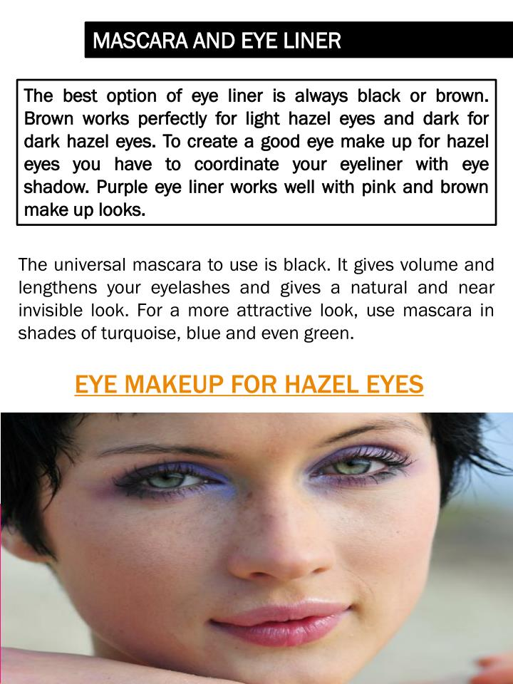 Ppt Makeup For Hazel Eyes Powerpoint Presentation Id7263548