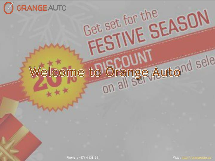 Welcome to Orange Auto