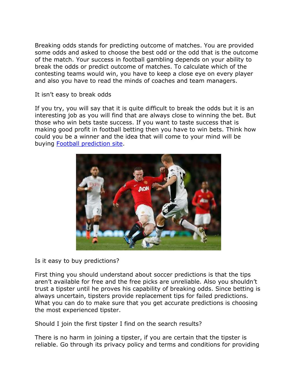 PPT - Tips for buying correct football betting tips PowerPoint