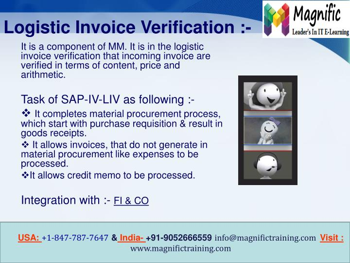 Logistic Invoice Verification :-