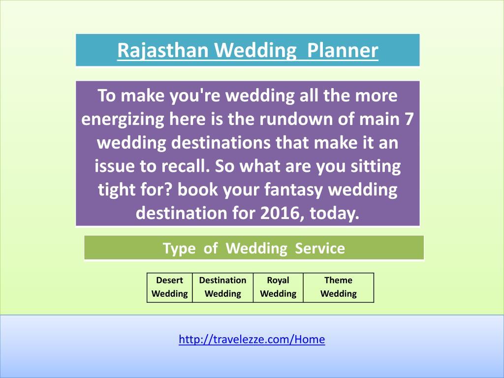 ppt rajasthan wedding planner powerpoint presentation id 7264108