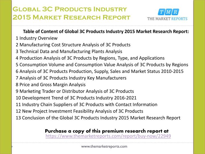 Global 3C Products Industry