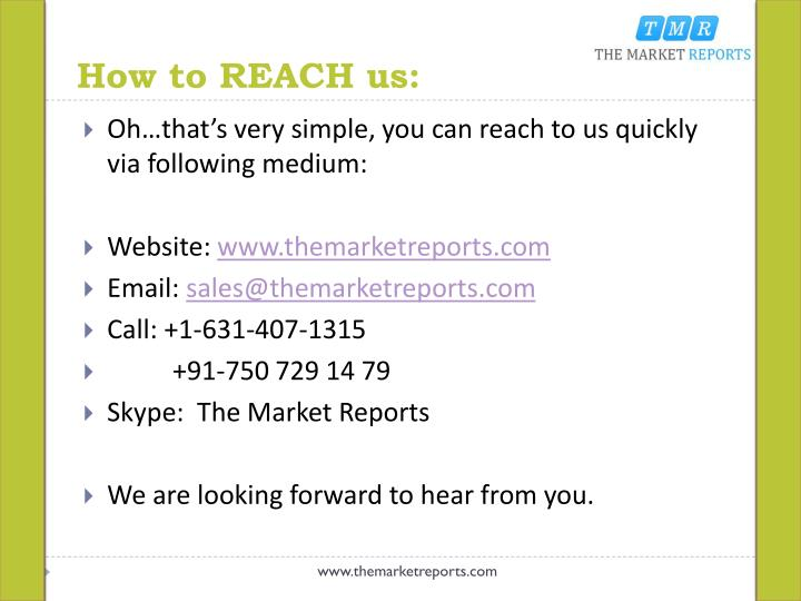 How to REACH us: