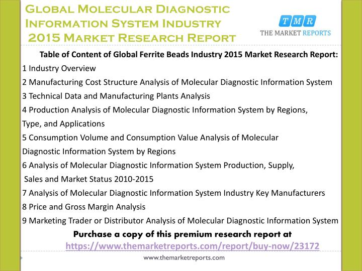 Global Molecular Diagnostic Information System