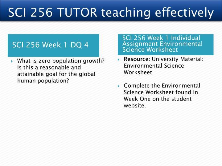 environmental science worksheet sci 256