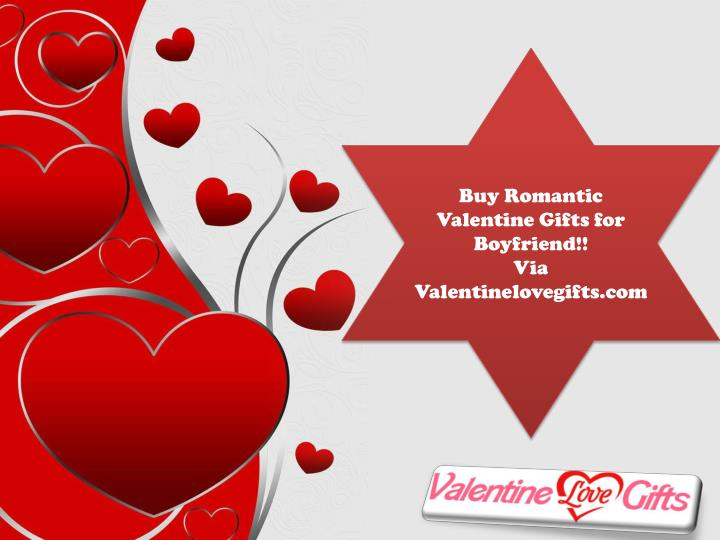 Ppt Buy Romantic Valentine Gifts For Boyfriend Powerpoint