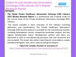 global private healthcare information exchange hie industry 2015 market research report