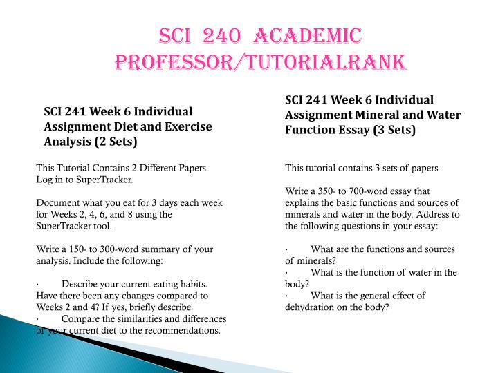 sci241 week 5 paper dehydration