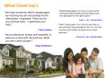 what client say s