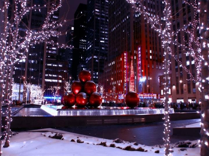 Christmas in new york big apple
