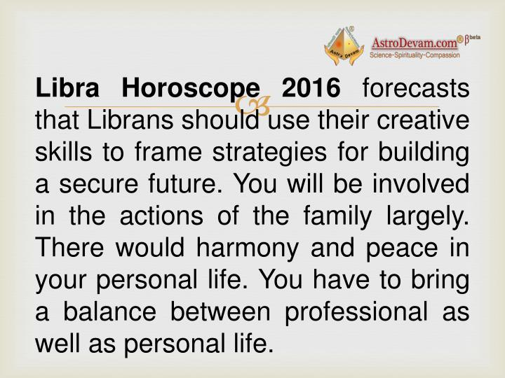 Libra Horoscope 2016