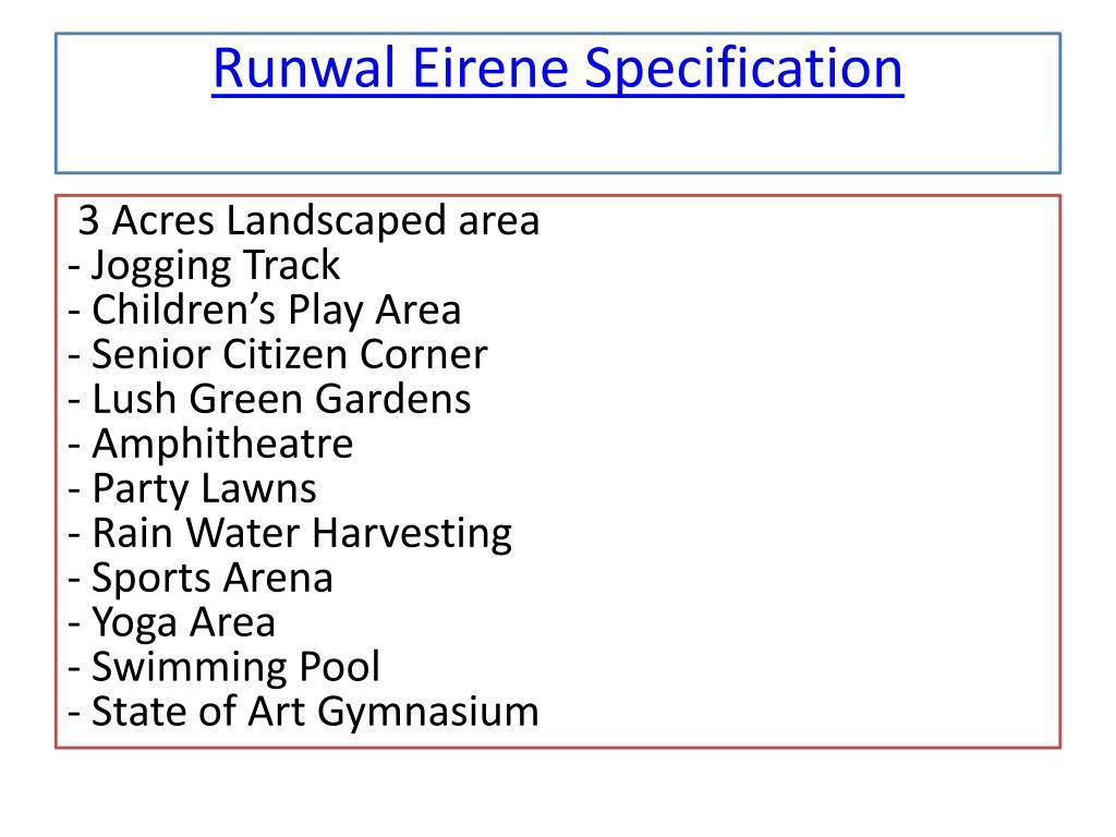 PPT - Runwal Eirene in Mumbai PowerPoint Presentation - ID