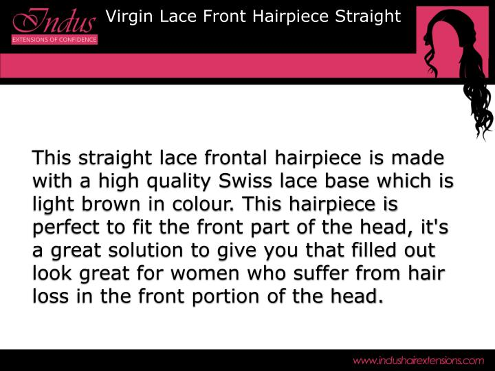 Virgin Lace Front Hairpiece Straight
