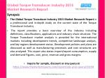 global torque transducer industry 2015 market research report