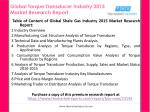 global torque transducer industry 2015 market research report2