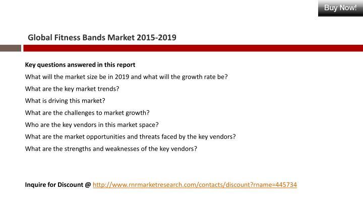 Global Fitness Bands Market 2015-2019