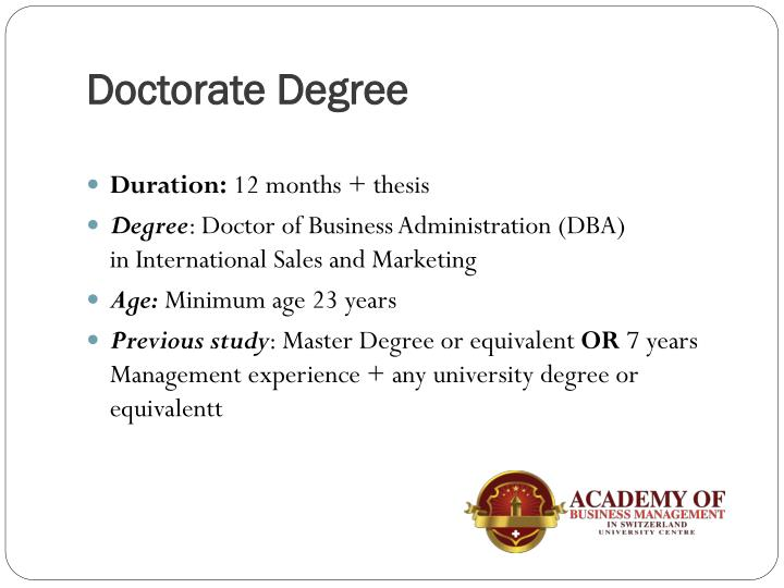 thesis for doctorate in business administration Keiser's online doctor of business administration program provides distance learners with an international perspective on the field the 60-credit curriculum primarily addresses training in the global economy and independent research methods, culminating in three research courses and a final dissertation.