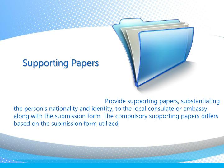 Supporting Papers