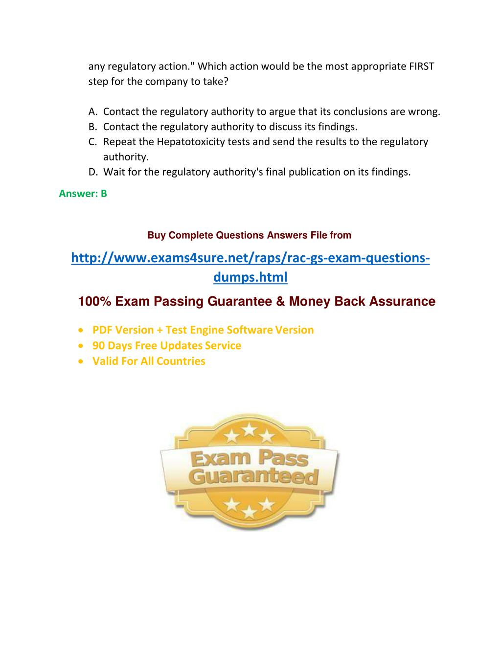 PPT - RAC Exam Questions PowerPoint Presentation - ID:7266285