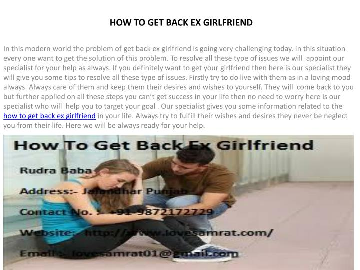 PPT - Best Ways Of How To Get Back Ex Girlfriend PowerPoint