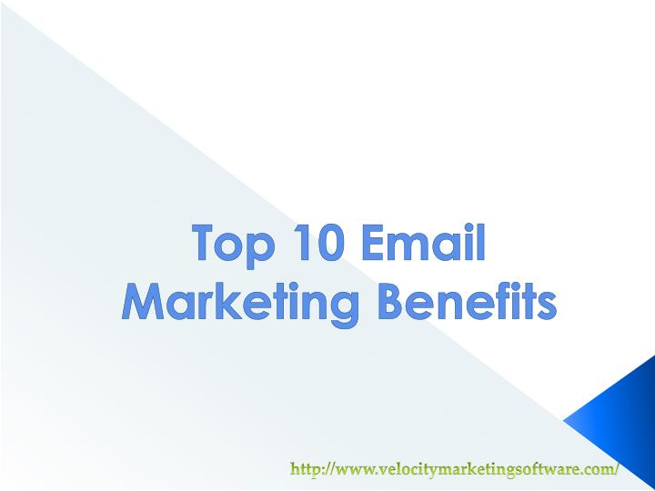 top 10 email marketing benefits n.