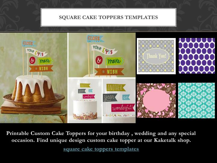 square cake toppers templates n.
