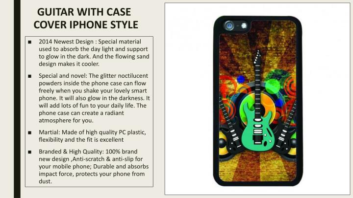 Guitar with case cover iphone style