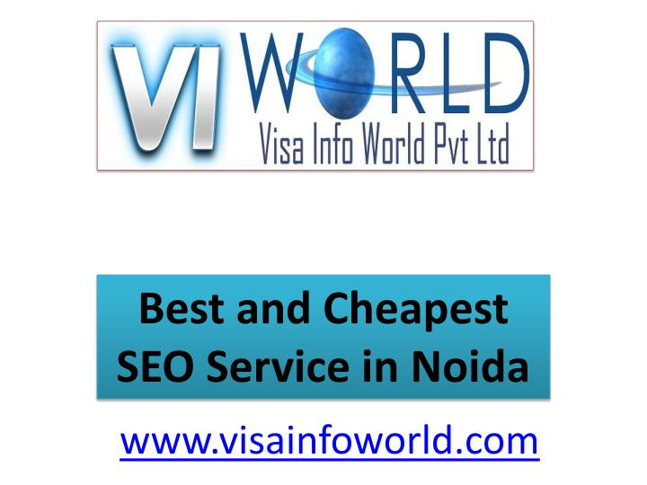 Best and cheapest seo service in noida