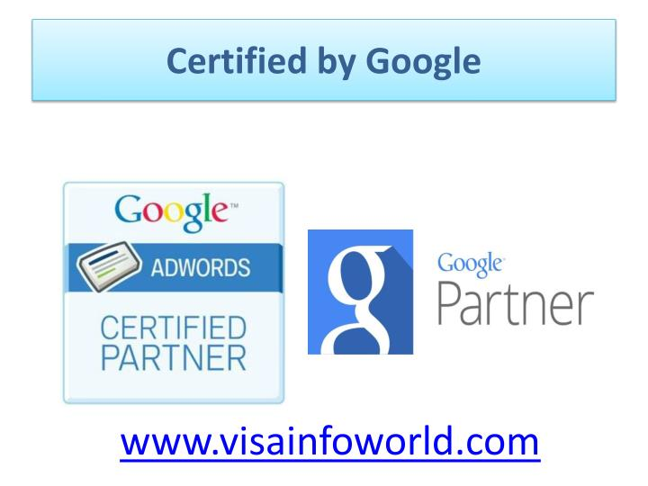 Certified by google