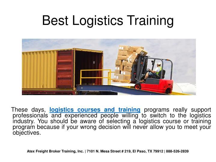 Best Logistics Training