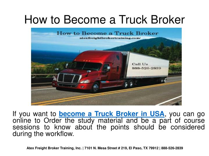How to Become a Truck Broker