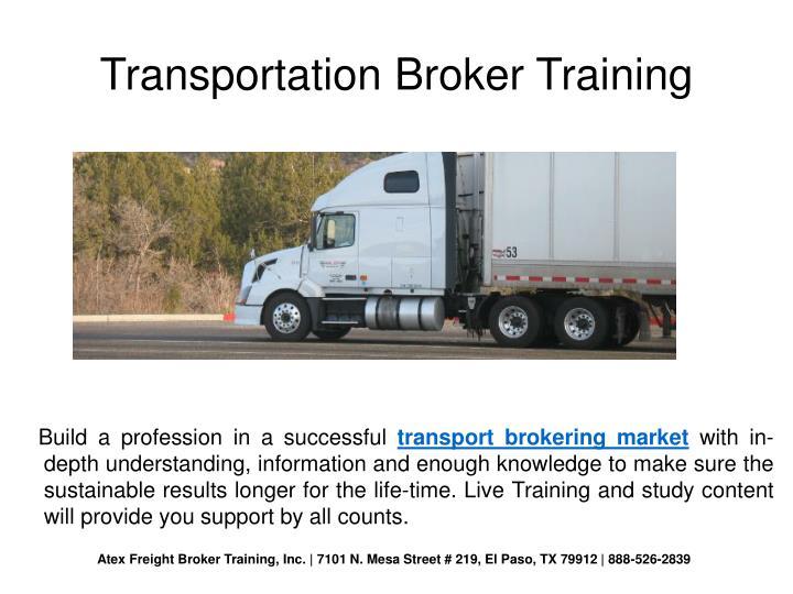 Transportation Broker Training