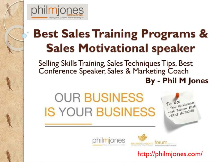 PPT - Philmjones - Best Sales Training Programs & Sales