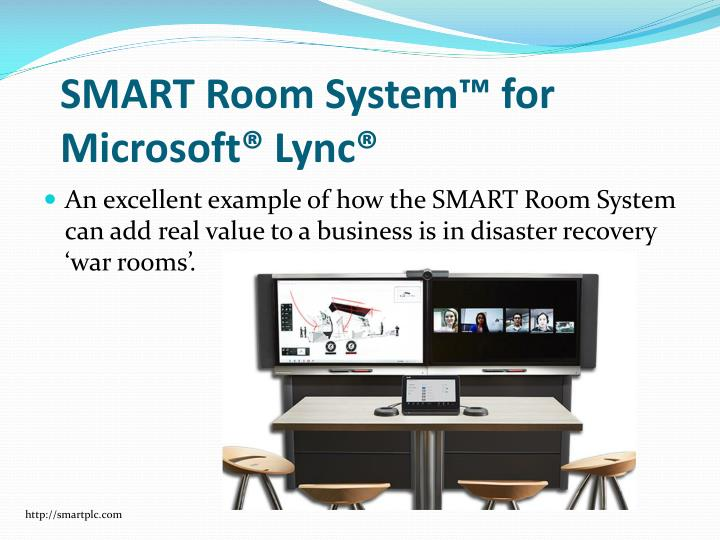 Smart room system for microsoft lync