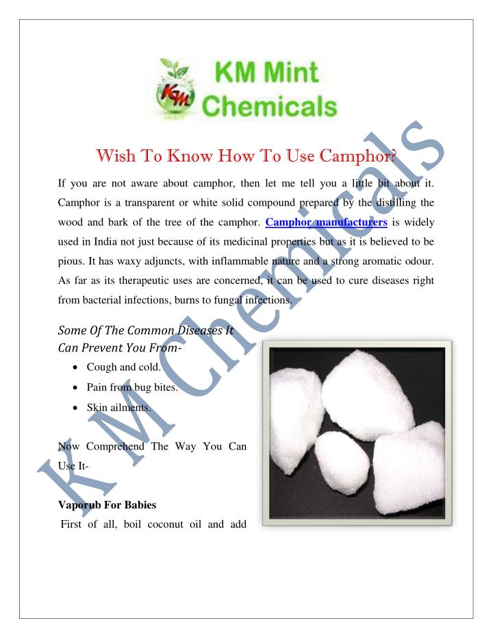 Ppt Camphor Manufacturers Suppliers India Powerpoint Presentation Id 7266863