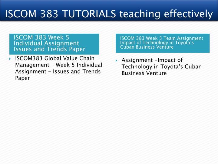 ISCOM 383 TUTORIALS teaching effectively