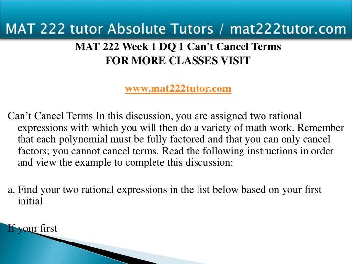 Mat 222 tutor absolute tutors mat222tutor com2