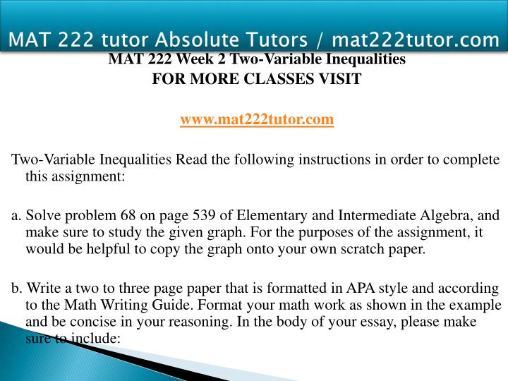 mat 222 week 1 assignment essay