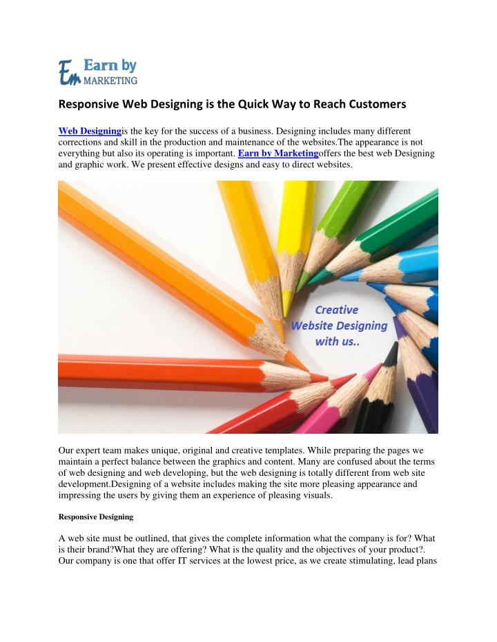 Responsive Web Designing is the Quick Way to Reach Customers