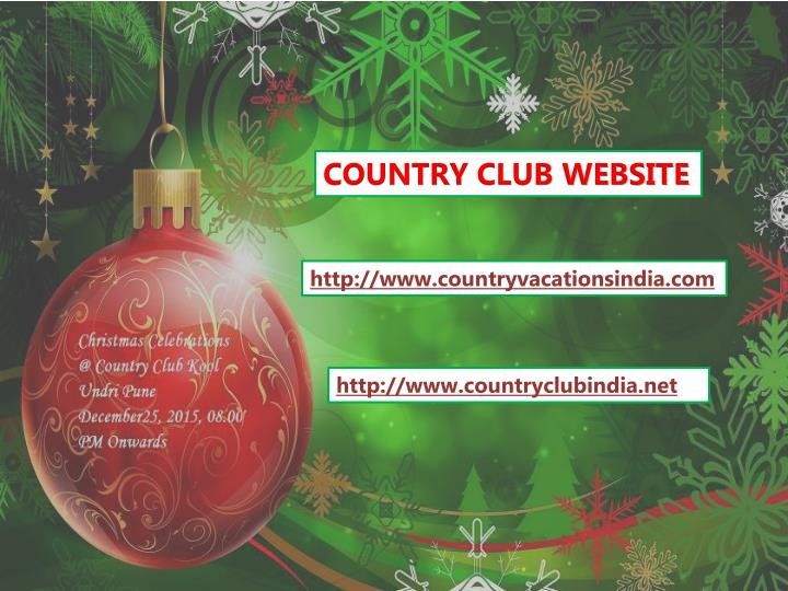 COUNTRY CLUB WEBSITE