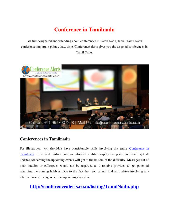 PPT - Conference in Tamilnadu PowerPoint Presentation - ID