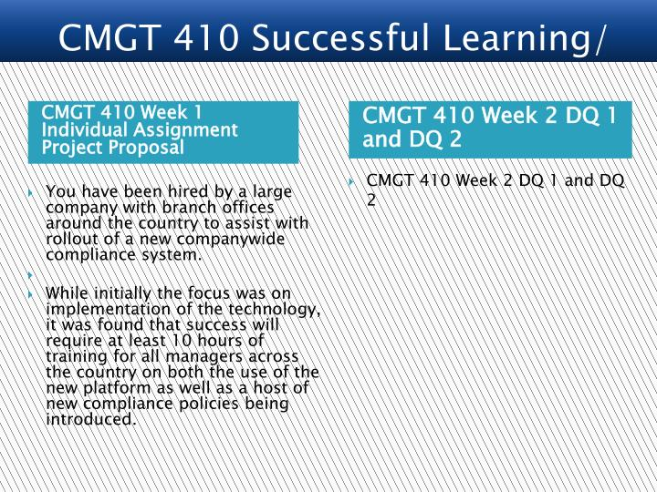 wk1 cmgt 410 individual assignment