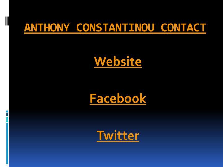 ANTHONY CONSTANTINOU CONTACT