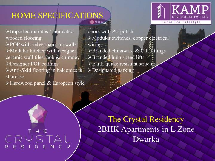 HOME SPECIFICATIONS