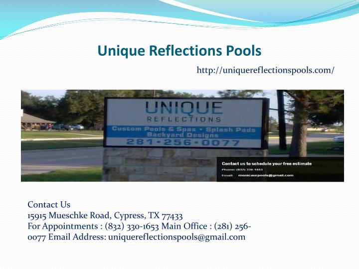unique reflections pools n.