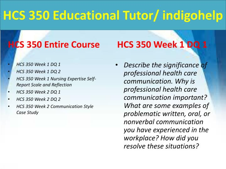hcs 350 Snaptutorial provides hcs 350 final exam guides we offer hcs 350 final exam answers, hcs 350 week 1,2,3,4,5 individual and team assignments.